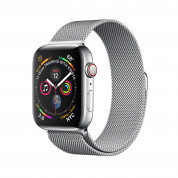 Apple Watch Series 4, 44mm Stainless Steel Case with Milanese Loop, GPS + Cellular - умен часовник от Apple