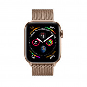 Apple Watch Series 4, 44mm Gold Stainless Steel Case with Milanese Loop, GPS + Cellular - умен часовник от Apple 1