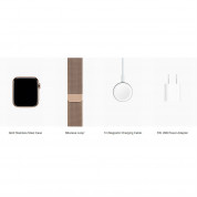 Apple Watch Series 4, 44mm Gold Stainless Steel Case with Milanese Loop, GPS + Cellular - умен часовник от Apple 3