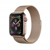 Apple Watch Series 4, 40mm Gold Stainless Steel Case with Milanese Loop, GPS + Cellular - умен часовник от Apple
