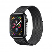 Apple Watch Series 4, 40mm Space Black Stainless Steel Case with Milanese Loop, GPS + Cellular - умен часовник от Apple