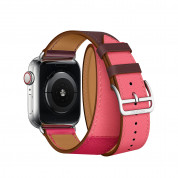 Apple Watch Hermès Series 4, 40mm Stainless Steel Case with Bordeaux/Rose Swift Leather Double Tour, GPS + Cellular - умен часовник от Apple 2