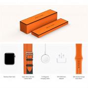 Apple Watch Hermès Series 4, 40mm Stainless Steel Case with Indigo/Orange Swift Leather Double Tour, GPS + Cellular - умен часовник от Apple 4