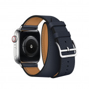 Apple Watch Hermès Series 4, 40mm Stainless Steel Case with Indigo Swift Leather Double Tour, GPS + Cellular - умен часовник от Apple 3