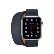 Apple Watch Hermès Series 4, 40mm Stainless Steel Case with Indigo Swift Leather Double Tour, GPS + Cellular - умен часовник от Apple 1