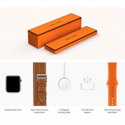 Apple Watch Hermès Series 4, 40mm Stainless Steel Case with Fauve Barenia Leather Double Tour, GPS + Cellular - умен часовник от Apple 4