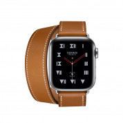 Apple Watch Hermès Series 4, 40mm Stainless Steel Case with Fauve Barenia Leather Double Tour, GPS + Cellular - умен часовник от Apple 1