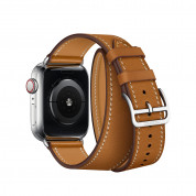 Apple Watch Hermès Series 4, 40mm Stainless Steel Case with Fauve Barenia Leather Double Tour, GPS + Cellular 3
