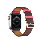 Apple Watch Hermès Series 4, 40mm Stainless Steel Case with Bordeaux/ Rose Swift Leather Single Tour, GPS + Cellular 3