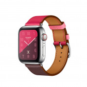 Apple Watch Hermès Series 4, 40mm Stainless Steel Case with Bordeaux/ Rose Swift Leather Single Tour, GPS + Cellular