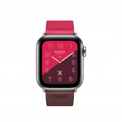 Apple Watch Hermès Series 4, 40mm Stainless Steel Case with Bordeaux/Rose Swift Leather Single Tour, GPS + Cellular - умен часовник от Apple 1