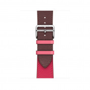 Apple Watch Hermès Series 4, 40mm Stainless Steel Case with Bordeaux/Rose Swift Leather Single Tour, GPS + Cellular - умен часовник от Apple 2