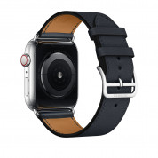 Apple Watch Hermès Series 4, 44mm Stainless Steel Case with Indigo Swift Leather Single Tour, GPS + Cellular - умен часовник от Apple 2