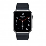 Apple Watch Hermès Series 4, 44mm Stainless Steel Case with Indigo Swift Leather Single Tour, GPS + Cellular - умен часовник от Apple 1
