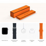 Apple Watch Hermès Series 4, 44mm Stainless Steel Case with Indigo Swift Leather Single Tour, GPS + Cellular - умен часовник от Apple 4
