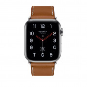 Apple Watch Hermès Series 4, 40mm Stainless Steel Case with Fauve Barenia Leather Single Tour, GPS + Cellular - умен часовник от Apple 1