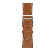 Apple Watch Hermès Series 4, 44mm Stainless Steel Case with Fauve Barenia Leather Single Tour, GPS + Cellular - умен часовник от Apple 2