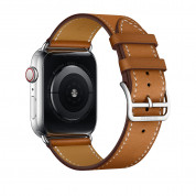 Apple Watch Hermès Series 4, 44mm Stainless Steel Case with Fauve Barenia Leather Single Tour, GPS + Cellular - умен часовник от Apple 3