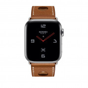 Apple Watch Hermès Series 4, 44mm Stainless Steel Case with Fauve Grained Barenia Leather Single Tour Rallye, GPS + Cellular - умен часовник от Apple 1
