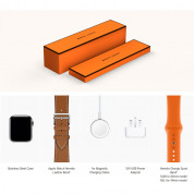 Apple Watch Hermès Series 4, 44mm Stainless Steel Case with Fauve Grained Barenia Leather Single Tour Rallye, GPS + Cellular - умен часовник от Apple 4