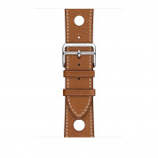 Apple Watch Hermès Series 4, 44mm Stainless Steel Case with Fauve Grained Barenia Leather Single Tour Rallye, GPS + Cellular - умен часовник от Apple 2