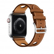 Apple Watch Hermès Series 4, 44mm Stainless Steel Case with Fauve Grained Barenia Leather Single Tour Rallye, GPS + Cellular - умен часовник от Apple 3
