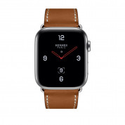 Apple Watch Hermès Series 4, 44mm Stainless Steel Case with Fauve Barenia Leather Single Tour Deployment Buckle, GPS + Cellular - умен часовник от Apple 1