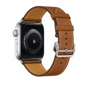 Apple Watch Hermès Series 4, 44mm Stainless Steel Case with Fauve Barenia Leather Single Tour Deployment Buckle, GPS + Cellular - умен часовник от Apple 3