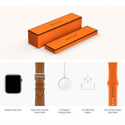 Apple Watch Hermès Series 4, 44mm Stainless Steel Case with Fauve Barenia Leather Single Tour Deployment Buckle, GPS + Cellular - умен часовник от Apple 4
