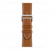 Apple Watch Hermès Series 4, 44mm Stainless Steel Case with Fauve Barenia Leather Single Tour Deployment Buckle, GPS + Cellular - умен часовник от Apple 2