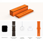 Apple Watch Hermès Series 4, 44mm Stainless Steel Case with Ébène Barenia Leather Single Tour Deployment Buckle, GPS + Cellular - умен часовник от Apple 4
