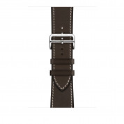 Apple Watch Hermès Series 4, 44mm Stainless Steel Case with Ébène Barenia Leather Single Tour Deployment Buckle, GPS + Cellular - умен часовник от Apple 3
