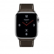 Apple Watch Hermès Series 4, 44mm Stainless Steel Case with Ébène Barenia Leather Single Tour Deployment Buckle, GPS + Cellular - умен часовник от Apple 1