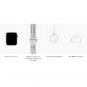 Apple Watch Nike+ Series 4, 44mm Silver Aluminum Case with Pure Platinum/Black Nike Sport Band, GPS - умен часовник от Apple 3