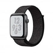 Apple Watch Nike+ Series 4, 40mm Space Gray Aluminum Case with Black Nike Sport Loop, GPS