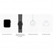 Apple Watch Nike+ Series 4, 44mm Space Gray Aluminum Case with Anthracite/Black Nike Sport Band, GPS + Cellular - умен часовник от Apple 3