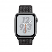 Apple Watch Nike+ Series 4, 44mm Space Gray Aluminum Case with Black Nike Sport Loop, GPS + Cellular - умен часовник от Apple 1