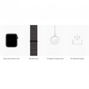 Apple Watch Nike+ Series 4, 44mm Space Gray Aluminum Case with Black Nike Sport Loop, GPS + Cellular - умен часовник от Apple 3