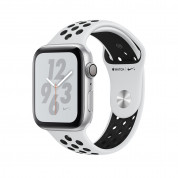 Apple Watch Nike+ Series 4, 40mm Silver Aluminum Case with Pure Platinum/Black Nike Sport Band, GPS + Cellular - умен часовник от Apple