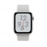 Apple Watch Nike+ Series 4, 40mm Silver Aluminum Case with Summit White Nike Sport Loop, GPS + Cellular - умен часовник от Apple 1