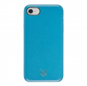 Foxwood Genuine Leather Hardshell Case - кожен кейс (естествена кожа) за iPhone 8, iPhone 7 (син)