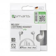 4smarts In-Ear Stereo Lightning Headset Melody 1.2m - слушалки със сертифициран Lightning кабел, управление на звука и микрофон (бял) 1