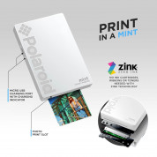 Polaroid Mint Pocket Printer Zink Zero Ink Technology with Built-In Bluetooth for Android & iOS Devices (white) 5