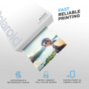Polaroid Mint Pocket Printer Zink Zero Ink Technology with Built-In Bluetooth for Android & iOS Devices (white) 2