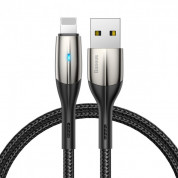 Baseus Horizontal Data Cable CALSP-C01 - Lightning USB кабел за iPhone, iPad и iPod с Lightning порт (200 см) (черен)