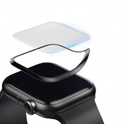 Baseus Curved Screen Tempered Glass Screen Protector for Apple Watch 42 mm (black) 2