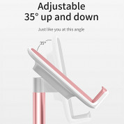 Baseus Literary Youth Desktop Bracket - елегантна поставка за бюро и гладки повърхности за смартфони и таблети (розово злато) 3