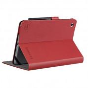 Ozaki Belief Leather Case - кожен калъф и поставка за iPad Mini, iPad Mini 2, iPad Mini 3 (червен) 1