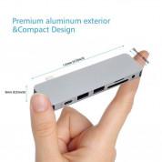 HyperDrive Solo 7-in-1 USB-C Hub - мултифункционален хъб за свързване на допълнителна периферия за MacBook Pro и компютри с USB-C (сребрист) 3