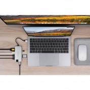 HyperDrive Slim 8-in-1 USB-C Hub - мултифункционален хъб за свързване на допълнителна периферия за MacBook Pro и устройства с USB-C (сребрист) 2
